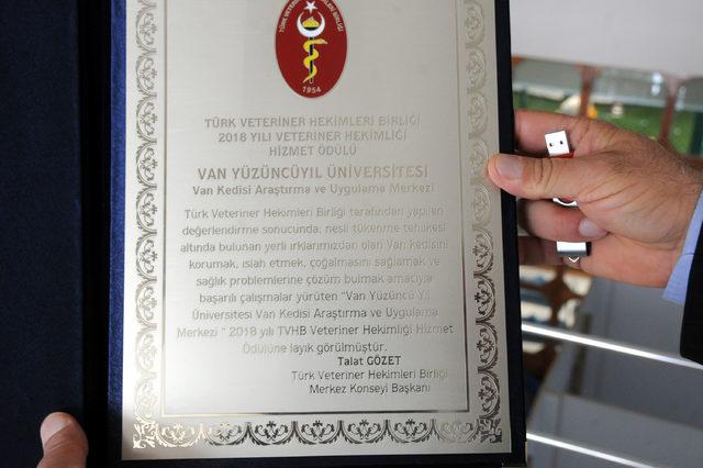 Van Kedisi Araştırma ve Uygulama Merkezi'ne ödül