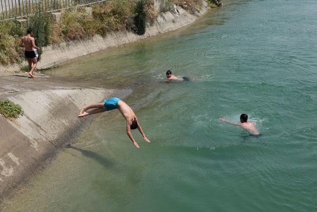 Sulama kanalında tehlikeli serinlik