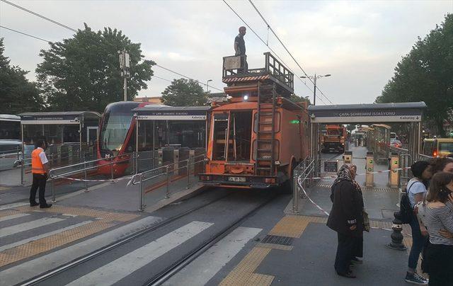 Teknik arıza tramvay seferlerini aksattı