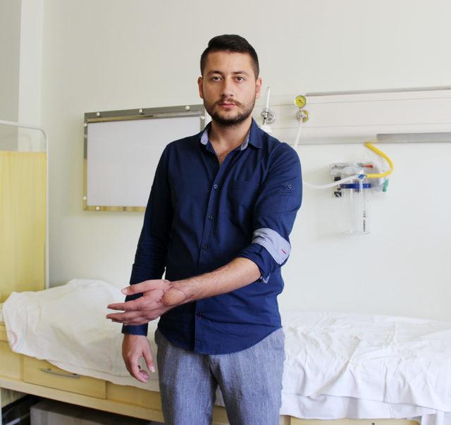 Tabancayla yaralanan eli, 2 ameliyatla kurtarıldı