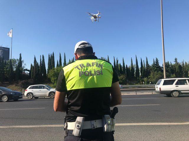 Drone'lu emniyet şeridi denetimi