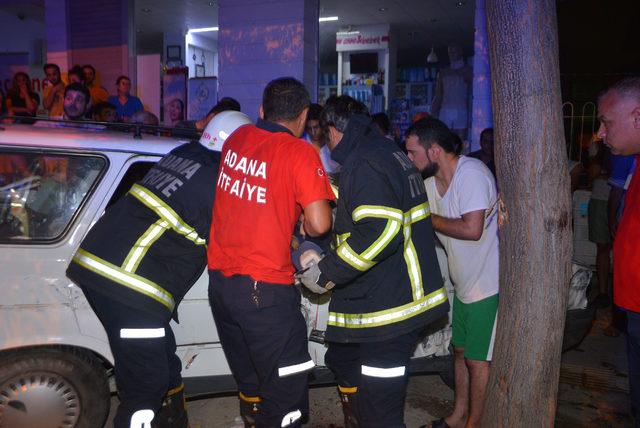 Otomobil karşı şeride uçtu: 1 yaralı