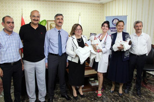 Gaziantep'te beşiz bebeklerin ailesine destek sağlanacak