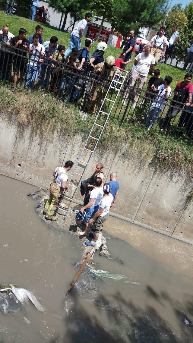 Su kanalında can pazarı
