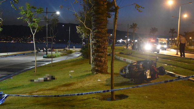 Motosiklet, hızlı girdiği virajda devrildi: 2 ölü