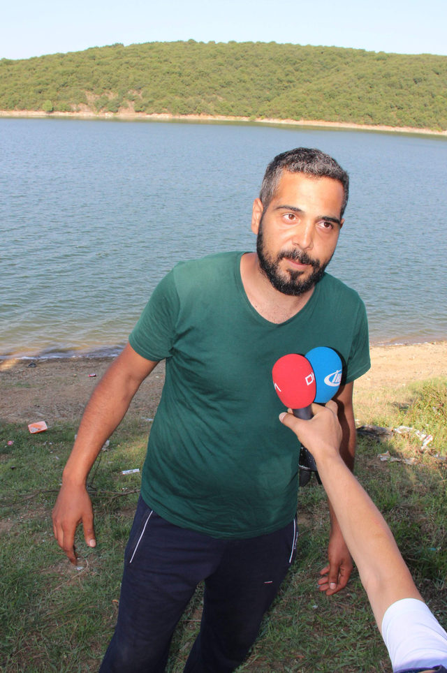 Alibeyköy barajına giren genç boğuldu