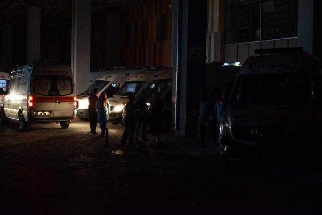 Van'da hastane bahçesinde yangın çıktı, hastalar tahliye edildi