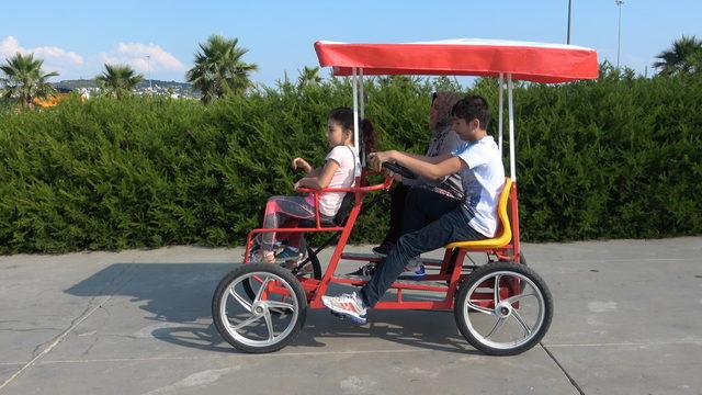 Maltepe'de ailece bisiklet keyfi