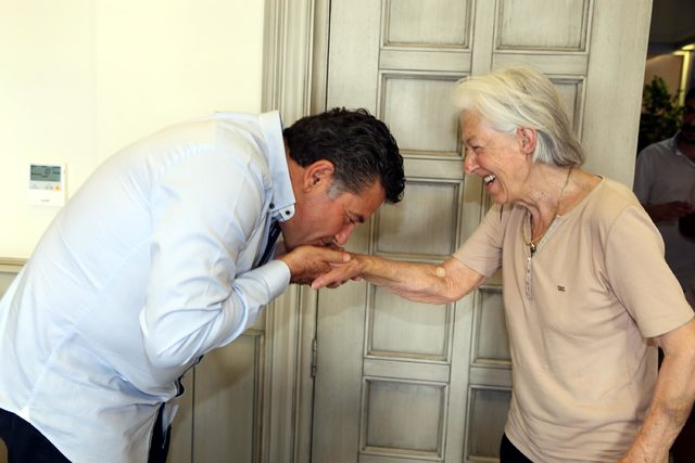 Yaşamını kurtaran Başkan Kocadon'u ziyaret etti