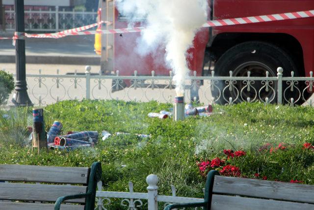 Tokat'ta Cumhurbaşkanı Erdoğan için 41 pare top atışı