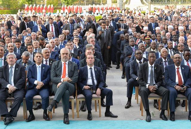 Törene katılan devlet liderleri