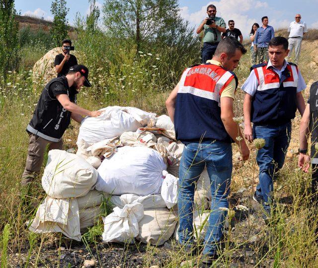 Uşak'ta ele geçirilen uyuşturucu maddeler imha edildi