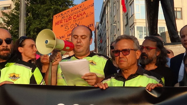 Silivri'de çocuk istismarı ve kadına şiddet protestosu