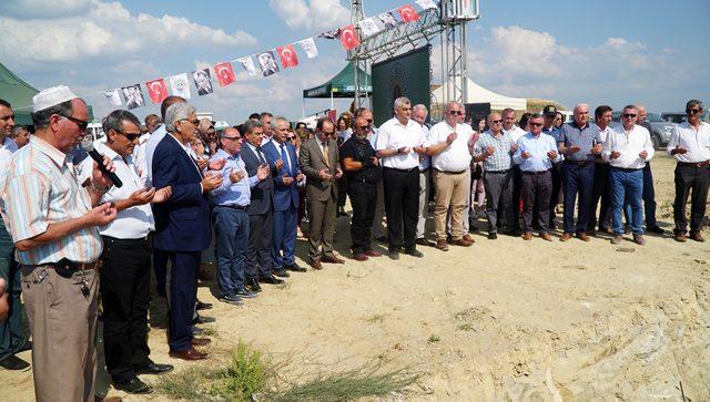 Edirne'de, 1000 sokak hayvanı için yapılacak bakımevinin temeli atıldı