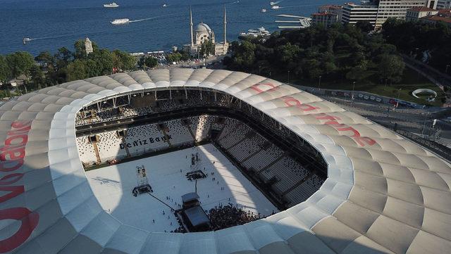 Shakira konseri öncesi Vodafone Park'ın havadan fotoğrafları