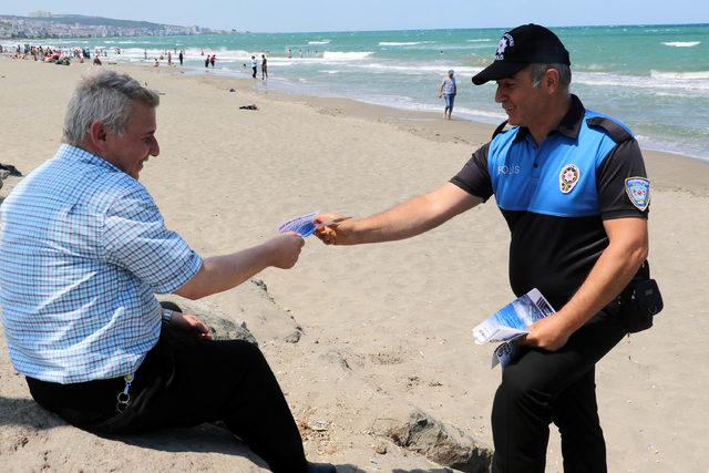 Samsun'da boğulmalara karşı Türkçe ve Arapça broşür dağıtıldı