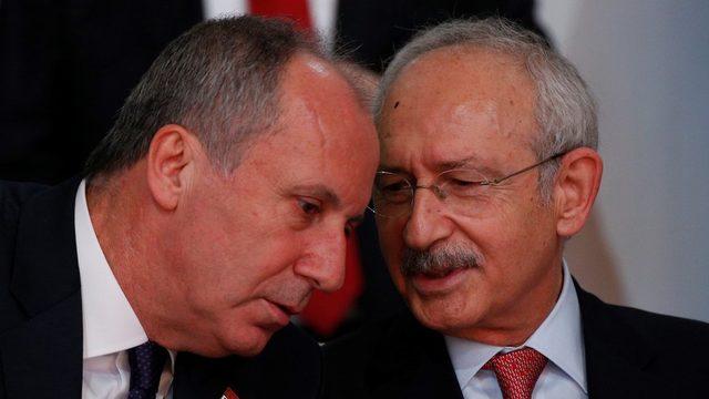 Muharrem İnce ve Kemal Kılıçdaroğlu 3 Şubat 2018'de düzenlenen 36. Kurultay'da sohbet ederken