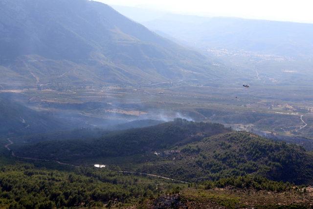 Gülnar'da orman yangını