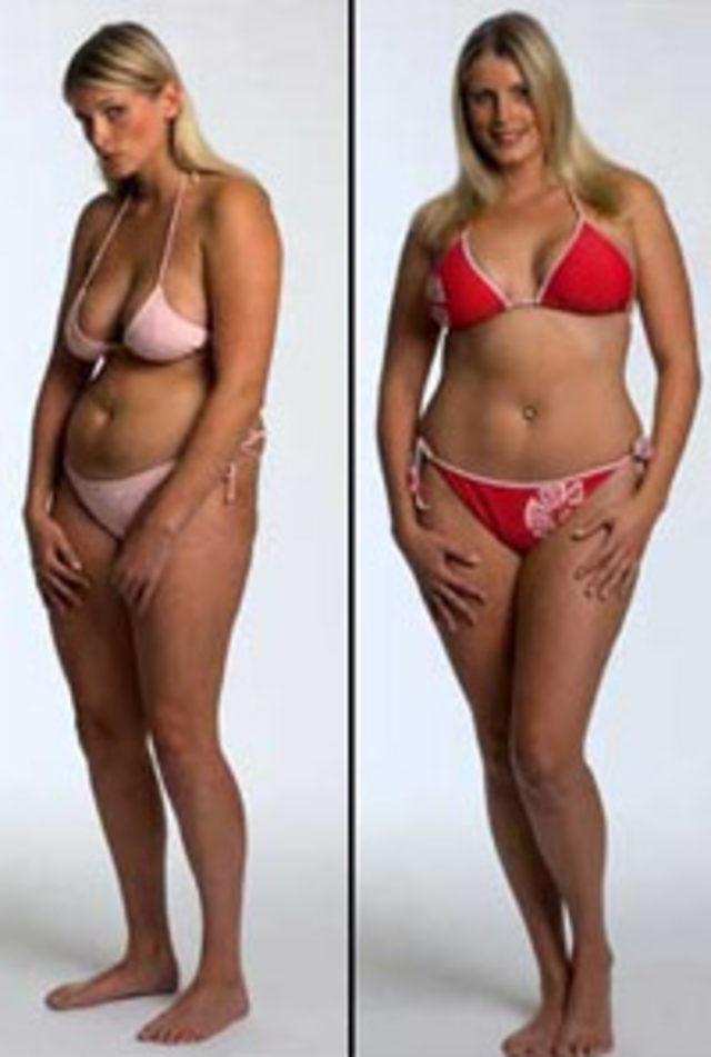 женщина худеет в трех случаях