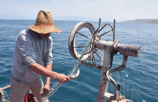 Yasak bitti, balıkçılar Van Gölü'ne ağlarını attı