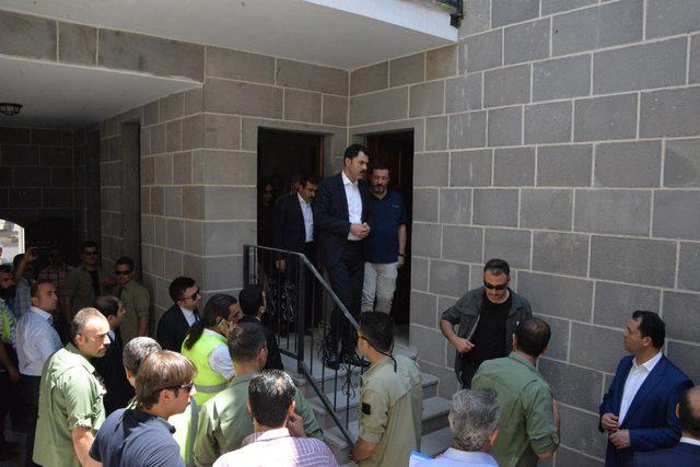 Bakan Kurum: Sur'da inşaat çalışmalarını hızla tamamlayacağız