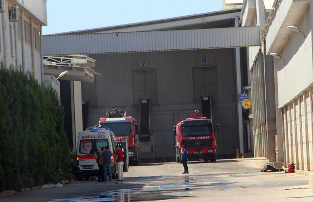 Fabrikadaki yangın korkuttu
