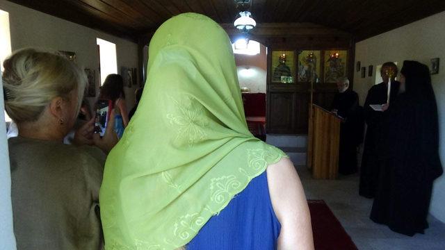 Bozcaada'da Aya Paraskevi Günü ayini yapıldı