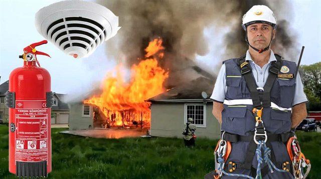 Yangın söndürme cihazları araçlarda var evlerde yok