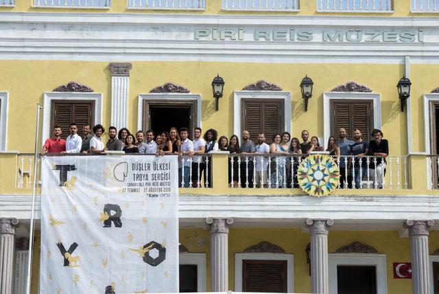 Çanakkale'de, 'Düşler Ülkesi: Troya' sergisi açıldı