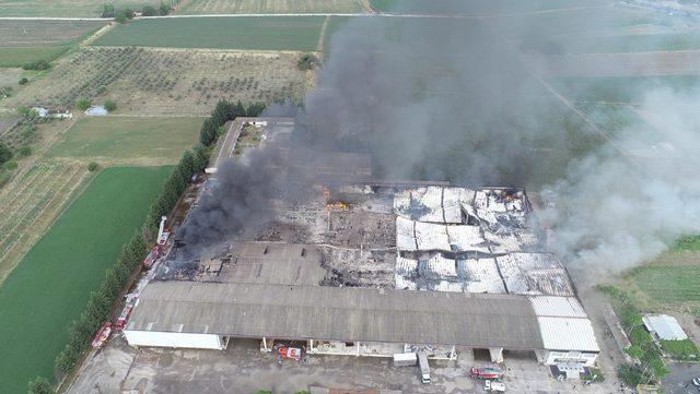 Mobilya fabrikası yangın