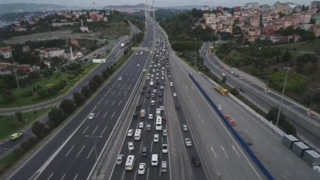 trafik havadan