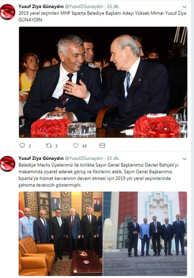 Isparta'da MHP'li başkan, 2019 adayı olduğunu duyurdu
