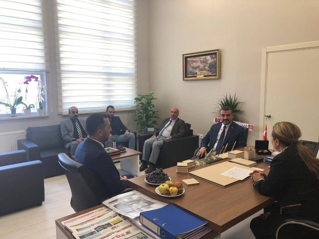 MHP'li Avşar'dan, Rektör Karabulut'a ziyaret