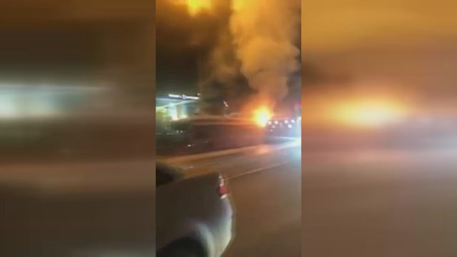 TEM'de otobüs yangını