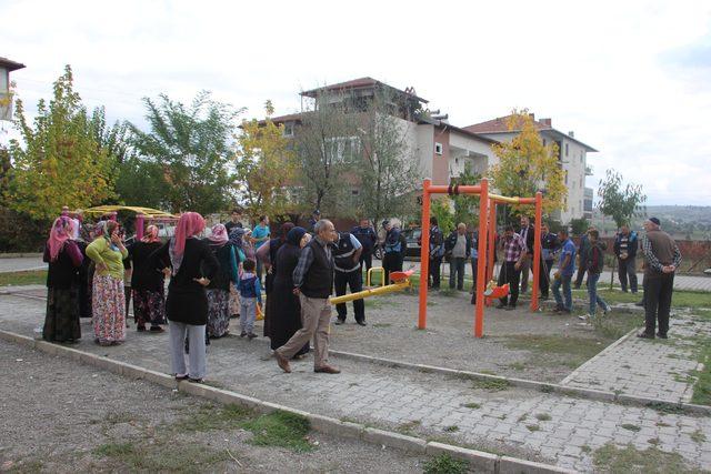 Çocuk parkının kaldırılmak istenmesine tepki
