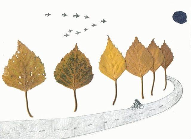 Sonbaharda Bastığın Yerleri Kuru Yaprak Diyerek Geçme Tanı