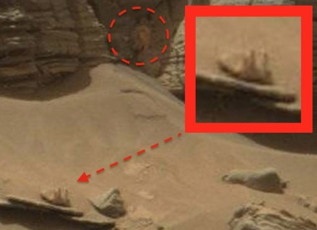 nasa rover spots claw of living alien on mars - 575×416