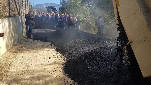 Ihlamur Teras yolunda asfalt çalışmaları başladı