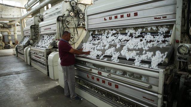 Pamuk fabrikası içi