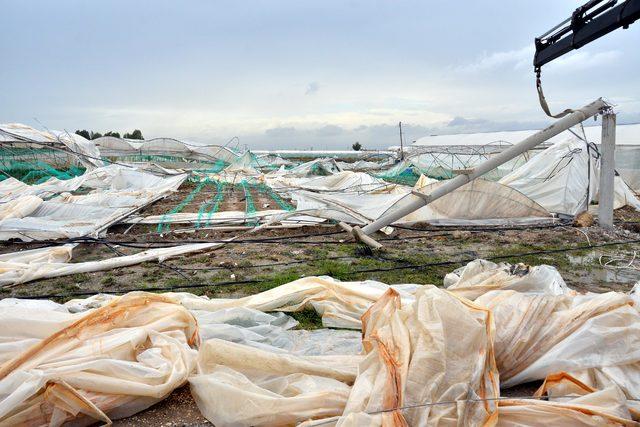 Dolu ve fırtına 15 milyon TL'lik zarara yol açtı