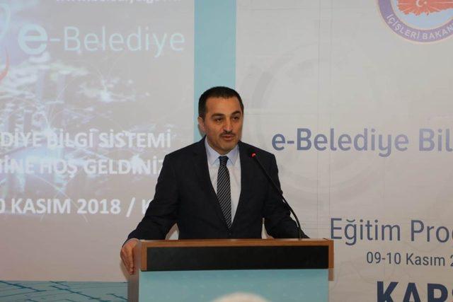 Kars'ta, E-Belediye Bilgi Sistemi Projesi Eğitim Toplantısı düzenlendi