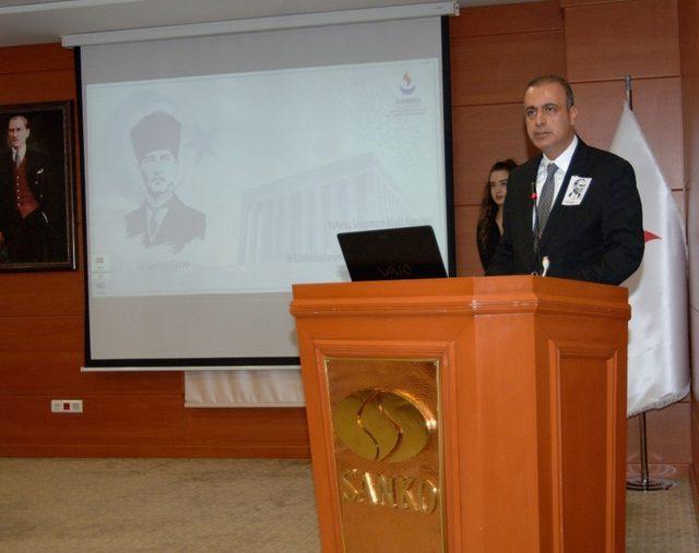 SANKO Üniversitesi'nde 10 Kasım Atatürk'ü anma töreni düzenlendi